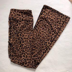 NWOT Flare Leopard Leggings - M
